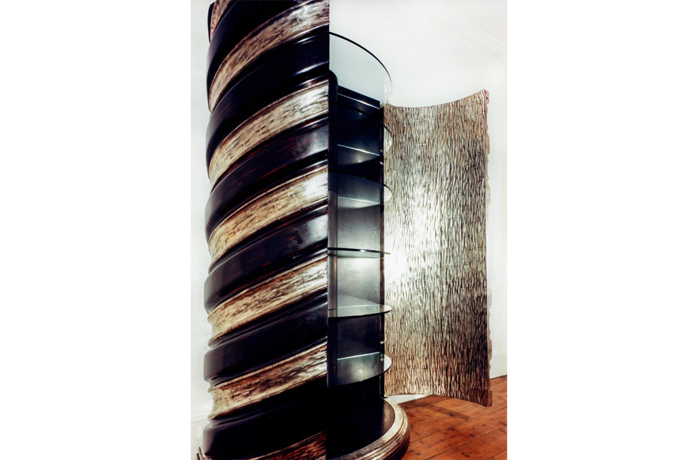 Barleytwist Cabinet in Jelutong © Peter Stern Furniture Design