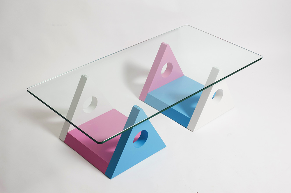 Custom Biloxi coffee table design by Peter Stern